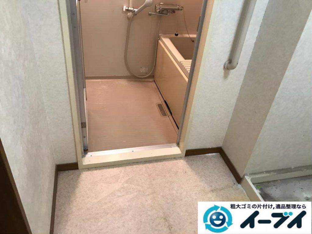 2020年10月21日大阪府河南町で脱衣所と浴室の不用品回収です。写真4
