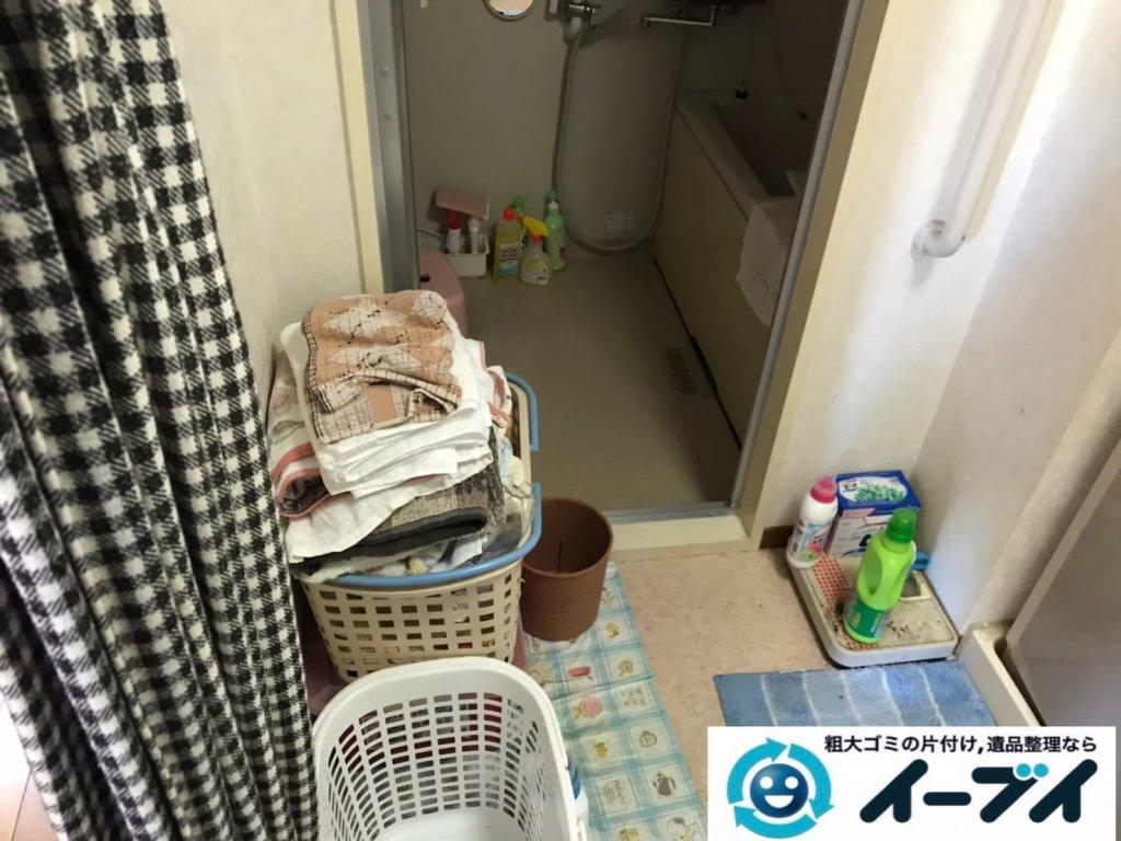 2020年10月21日大阪府河南町で脱衣所と浴室の不用品回収です。写真3