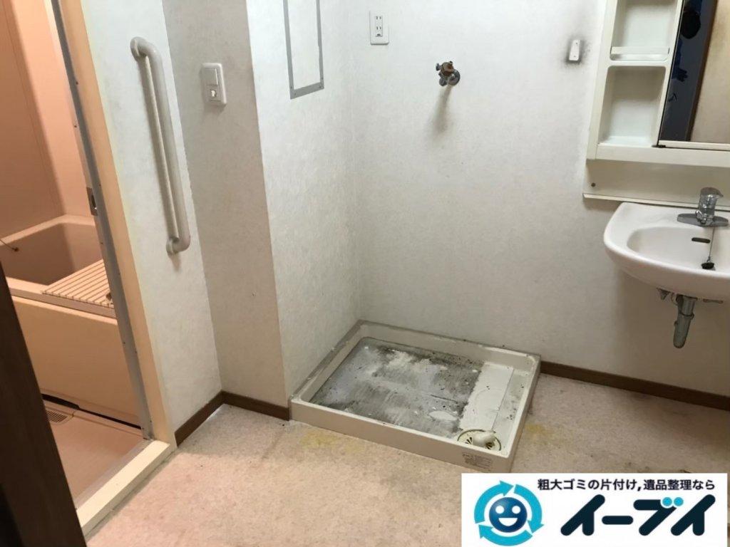 2020年10月21日大阪府河南町で脱衣所と浴室の不用品回収です。写真2