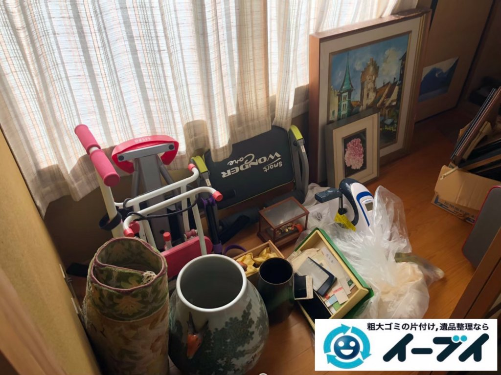2020年10月28日大阪府泉大津市で不用品が溜まったお部屋の片付けです。写真1