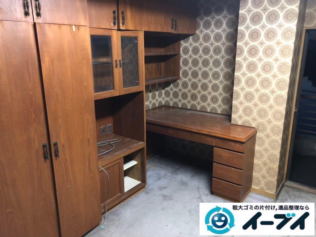 2020年10月30日大阪府熊取町で退去と同時にお家の残置物を不用品回収させていただきました。写真4