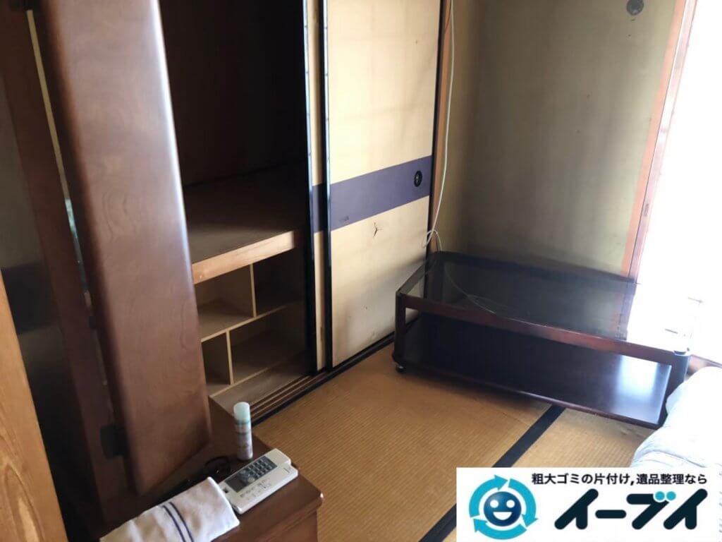 2020年11月11日大阪府箕面市で施設に移動するため、不用になったお家の家財道具を不用品回収させていただきました。写真4