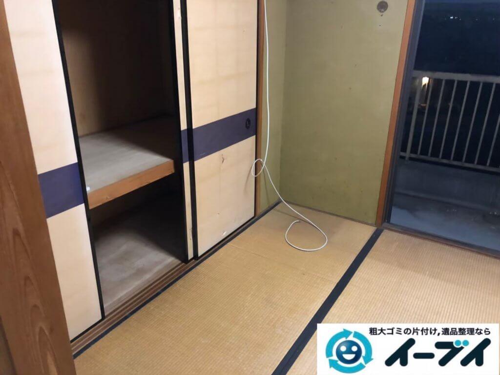 2020年11月11日大阪府箕面市で施設に移動するため、不用になったお家の家財道具を不用品回収させていただきました。写真3