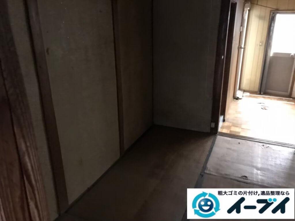 2020年12月08日大阪府田尻町で遺品整理に伴い、婚礼家具などの大型家具処分をさせて頂きました。写真6