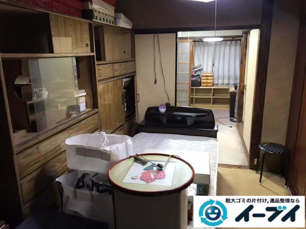 2020年12月08日大阪府田尻町で遺品整理に伴い、婚礼家具などの大型家具処分をさせて頂きました。写真5