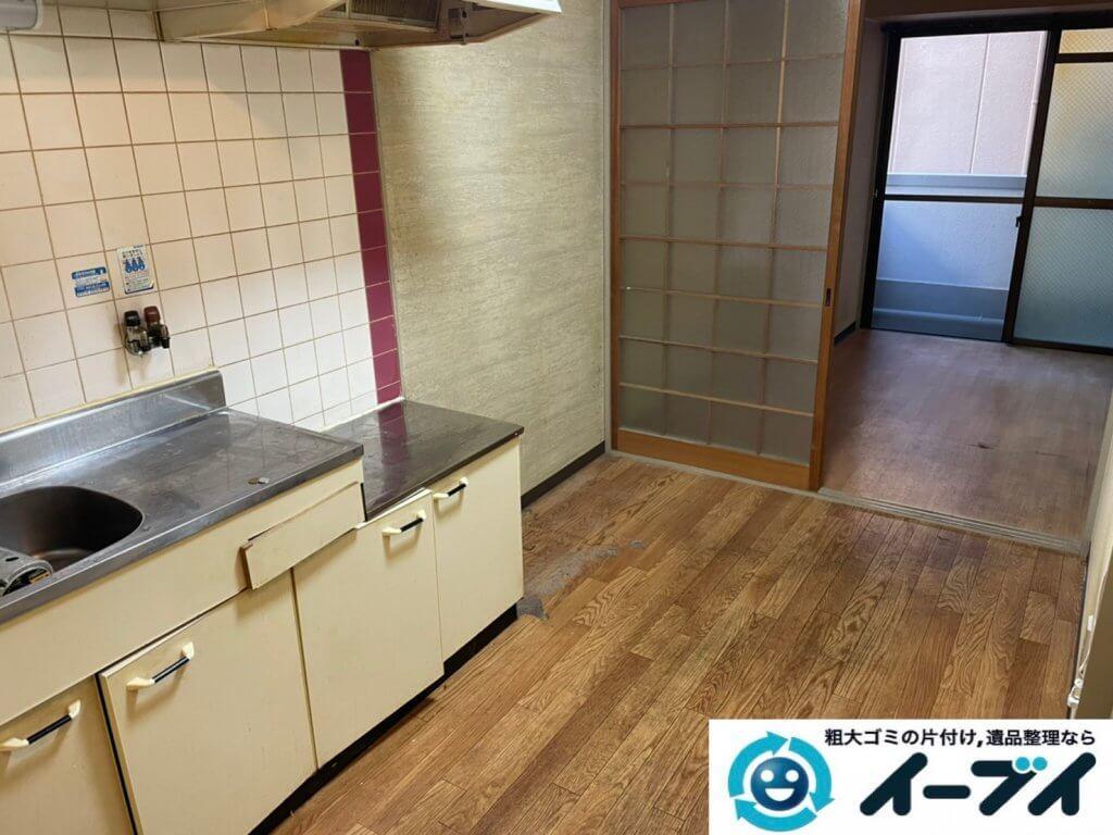 2021年3月5日大阪府千早赤阪村でキッチン周りの片付け作業をさせていただきました。写真3