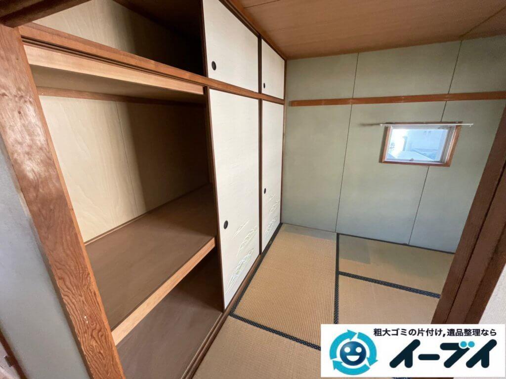 2021年2月18日大阪府豊中市で退去に伴いお家の家財道具の一式処分。写真5