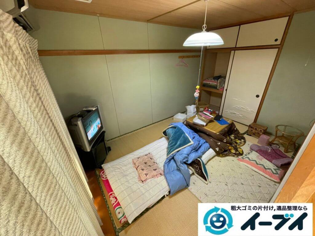 2021年2月18日大阪府豊中市で退去に伴いお家の家財道具の一式処分。写真2
