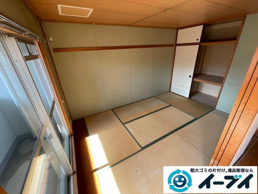 2021年2月18日大阪府豊中市で退去に伴いお家の家財道具の一式処分。写真1