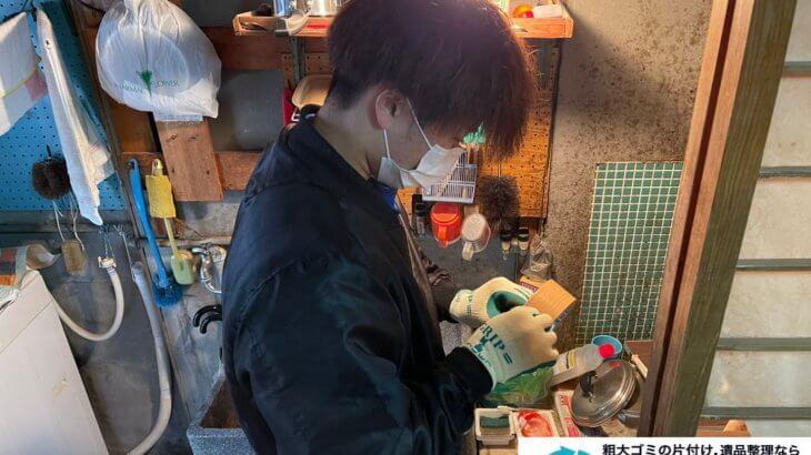 2021年3月14日大阪府吹田市でモノ屋敷の片付け作業。写真1