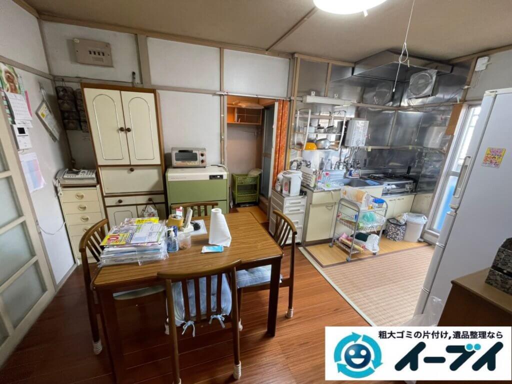 2021年3月20日大阪府和泉市で施設に入居するため、お家の家財道具を一式処分させていただきました。写真1