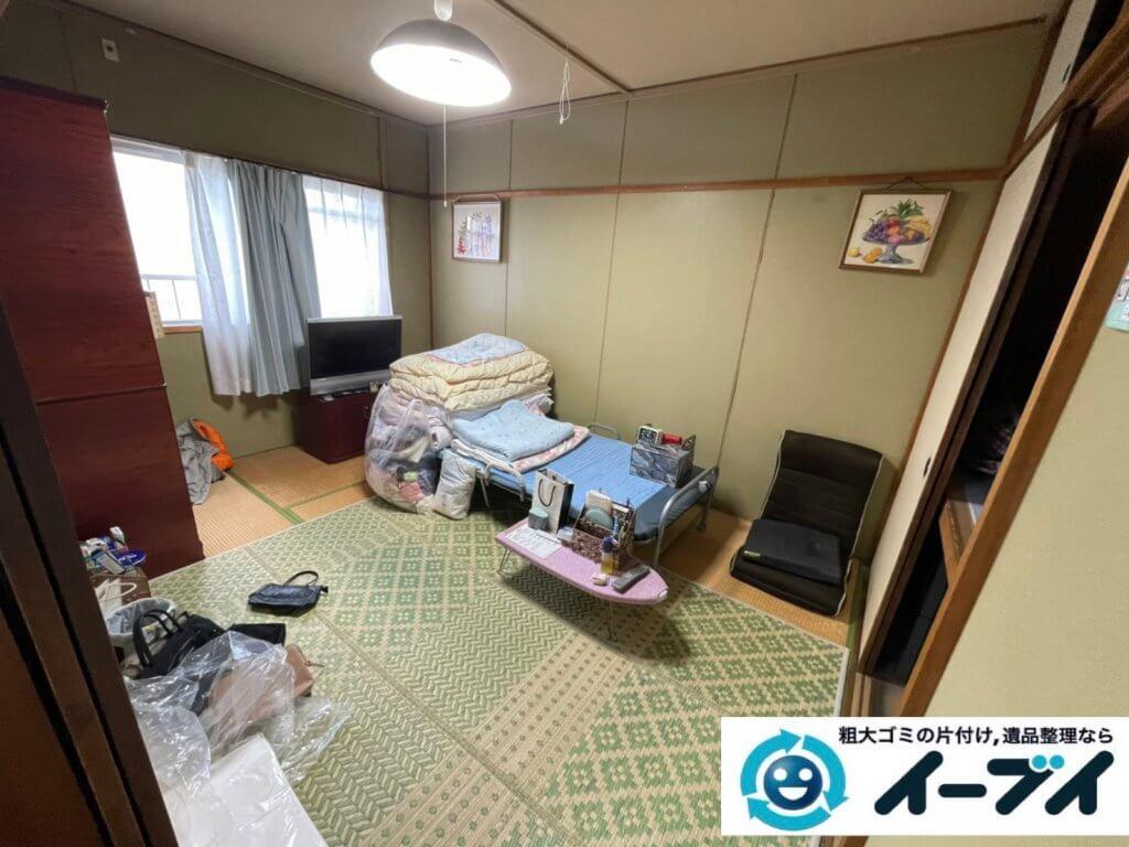 2021年3月26日大阪府四条畷市でお家の家財道具を全処分したいというご依頼をいただきました。写真4
