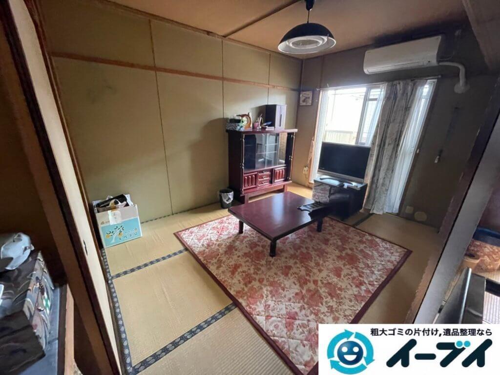 2021年3月26日大阪府四条畷市でお家の家財道具を全処分したいというご依頼をいただきました。写真2