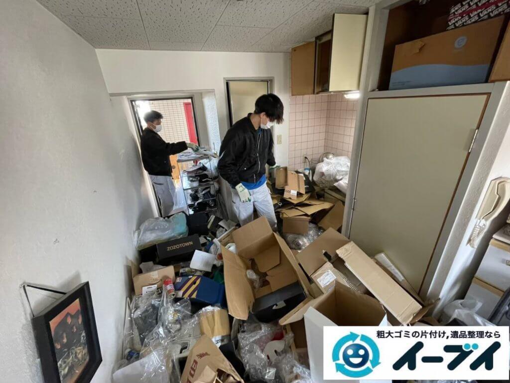 2021年4月12日大阪府堺市堺区でゴミ屋敷化したマンション一室の片付けをさせていただきました。写真3