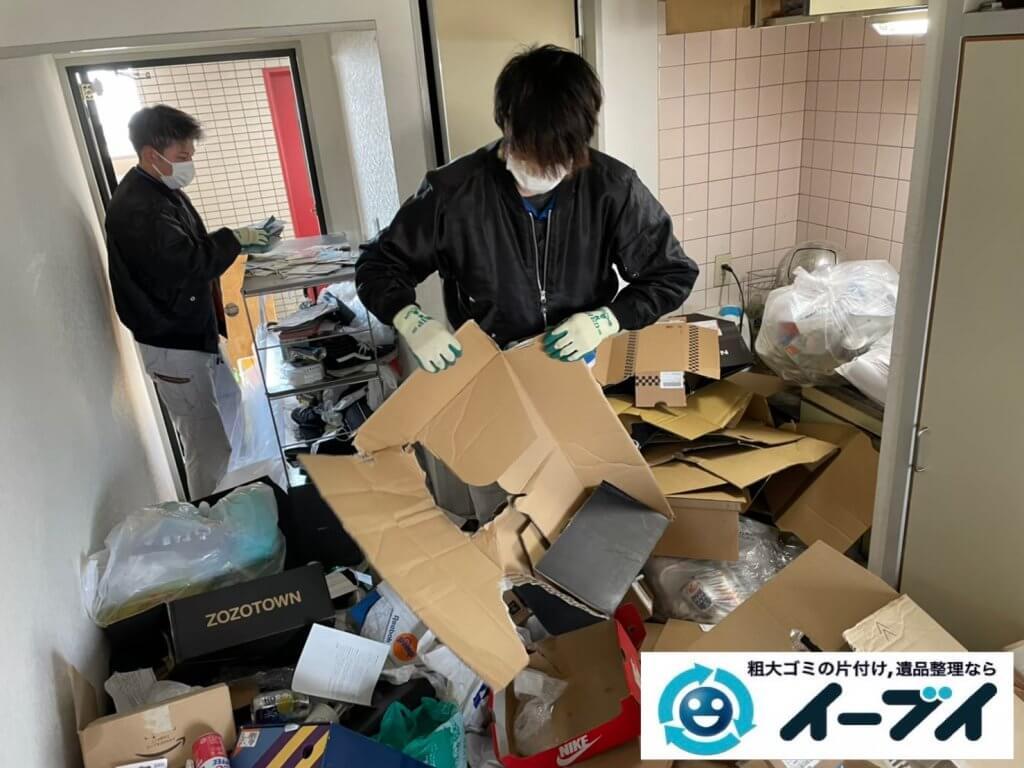 2021年4月12日大阪府堺市堺区でゴミ屋敷化したマンション一室の片付けをさせていただきました。写真2