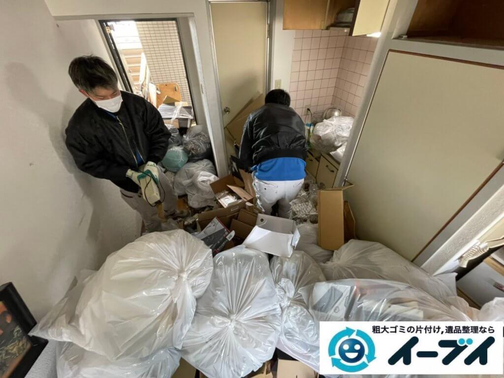 2021年4月12日大阪府堺市堺区でゴミ屋敷化したマンション一室の片付けをさせていただきました。写真1
