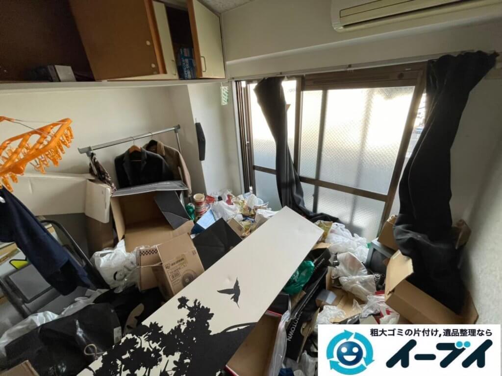 2021年4月12日大阪府堺市堺区でゴミ屋敷化したマンション一室の片付けをさせていただきました。写真5