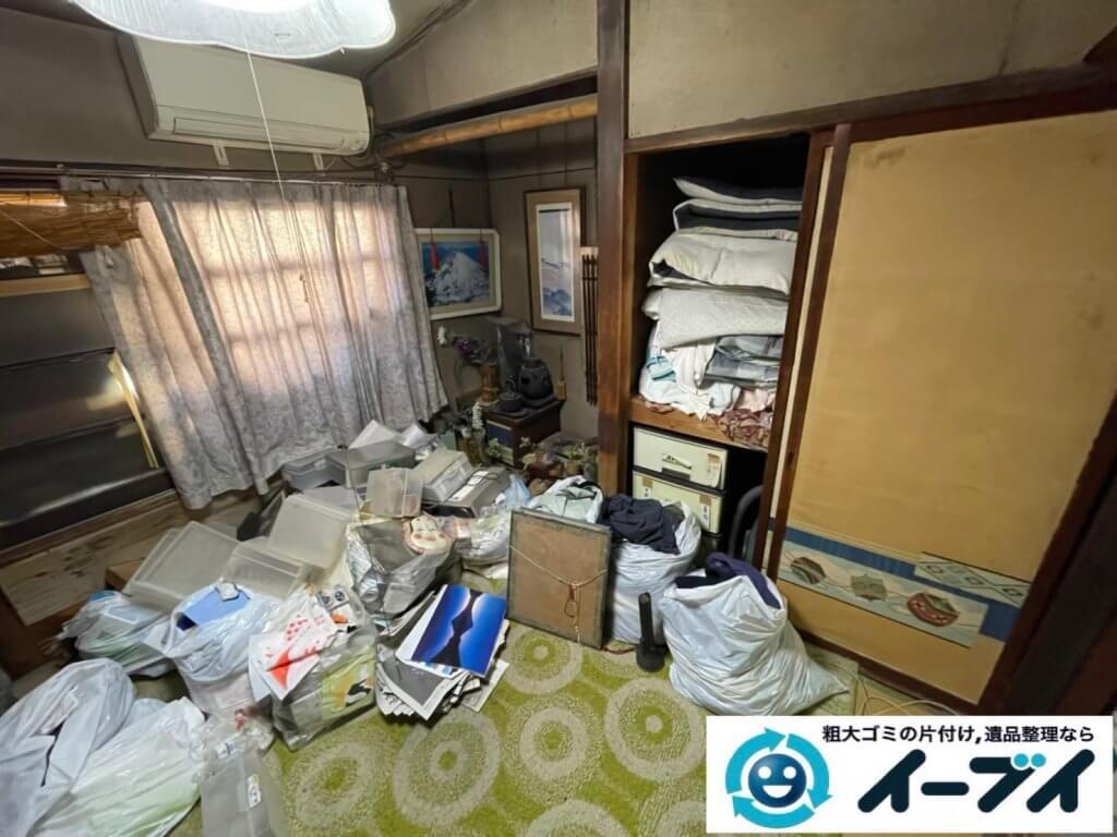 2021年4月24日大阪府堺市南区でモノやゴミが散乱したお部屋やお庭の不用品回収。写真1