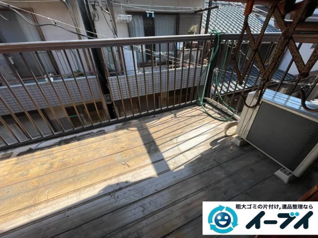 2021年4月24日大阪府堺市南区でモノやゴミが散乱したお部屋やお庭の不用品回収。写真4