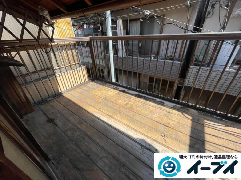 2021年4月24日大阪府堺市南区でモノやゴミが散乱したお部屋やお庭の不用品回収。写真2