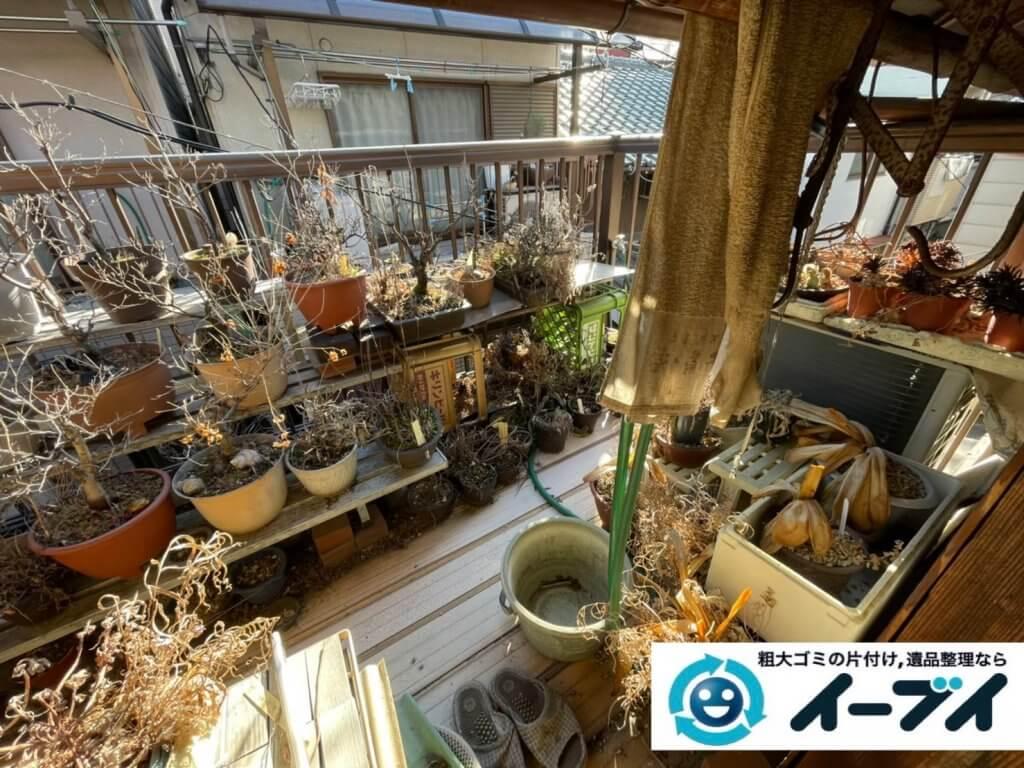 2021年4月24日大阪府堺市南区でモノやゴミが散乱したお部屋やお庭の不用品回収。写真6