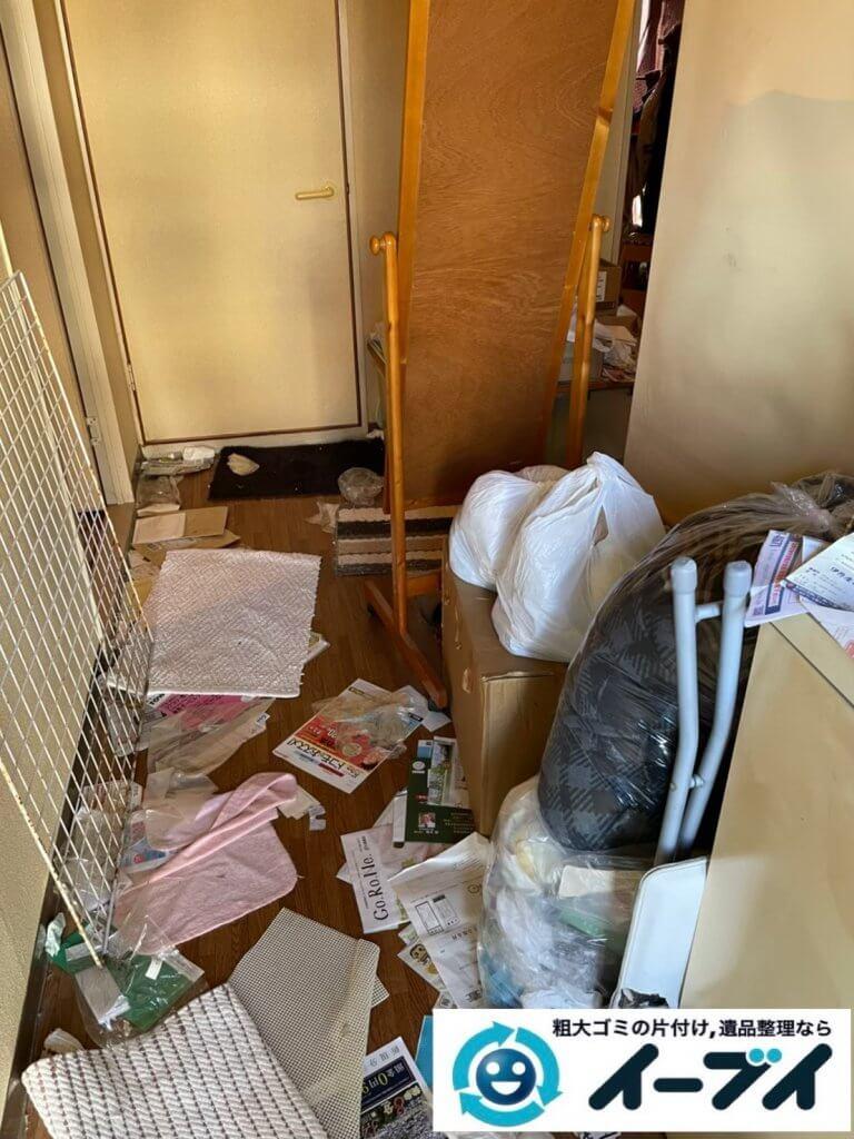 2021年4月27日大阪市大東区で退去に伴い、お家の家財道具を一式処分させていただきました。写真1