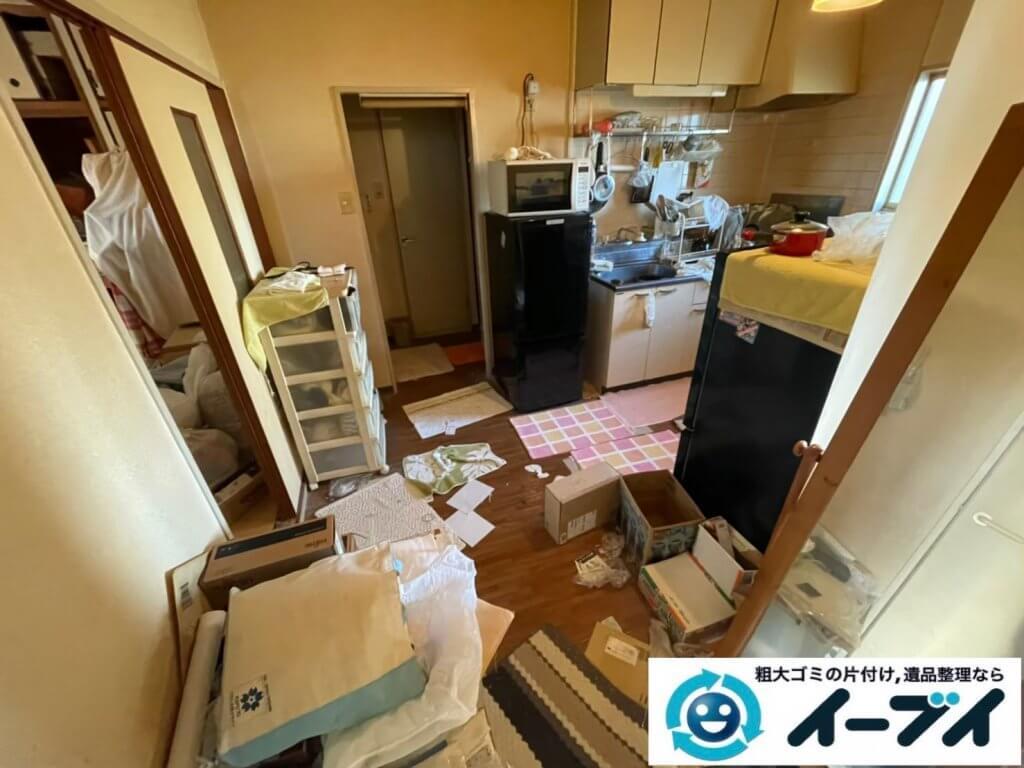 2021年4月27日大阪市大東区で退去に伴い、お家の家財道具を一式処分させていただきました。写真3