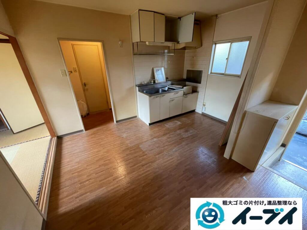 2021年4月27日大阪市大東区で退去に伴い、お家の家財道具を一式処分させていただきました。写真2