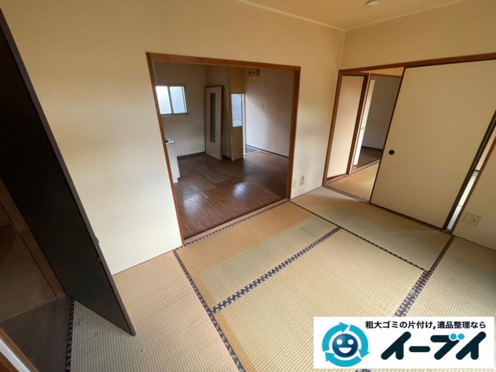 2020年5月7日大阪府堺市美原区で退去に伴い、お家の家財道具を一式処分させていただきました。写真1
