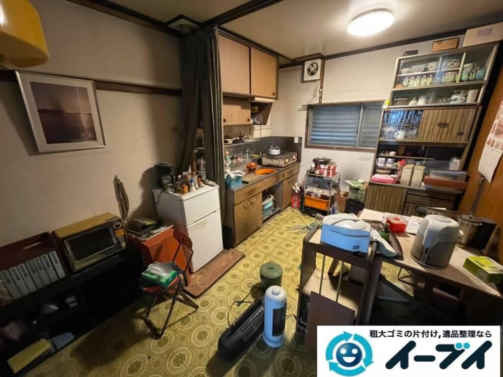 2021年5月22日大阪府大阪市住之江区で退去に伴い、お家の家財道具を一式処分させていただきました。写真6