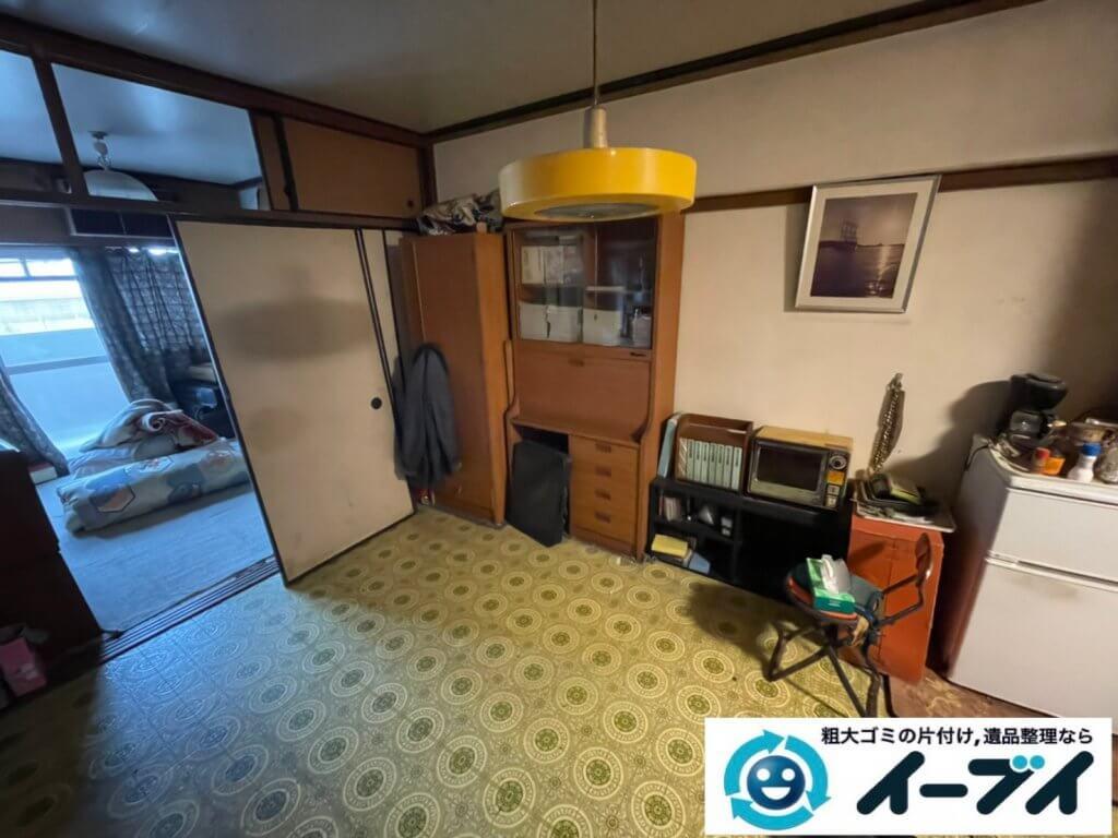 2021年5月19日大阪府大東市で施設に移動されるため、お家の家財道具を一式処分させていただきました。写真4