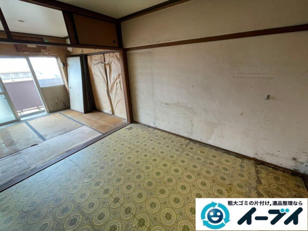 2021年5月22日大阪府大阪市住之江区で退去に伴い、お家の家財道具を一式処分させていただきました。写真3