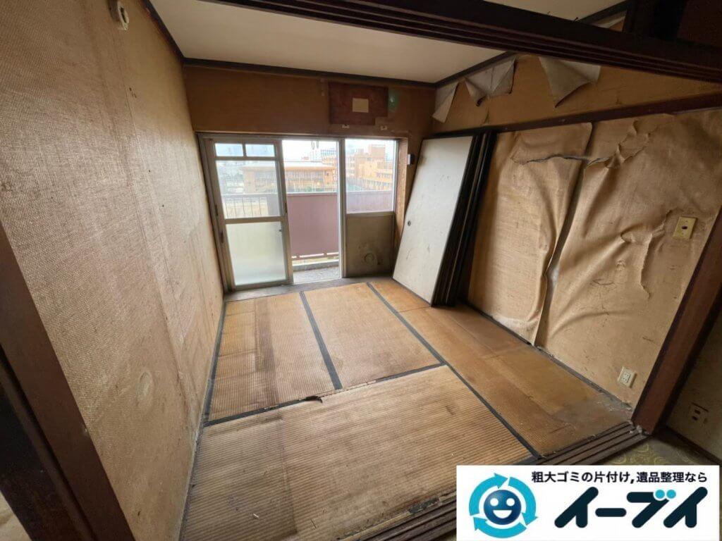 2021年5月19日大阪府大東市で施設に移動されるため、お家の家財道具を一式処分させていただきました。写真1