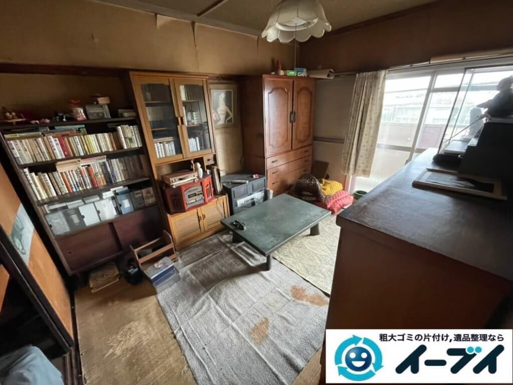 2021年6月18日大阪府大阪市城東区で箪笥や本棚の大型家具の不用品回収。写真4