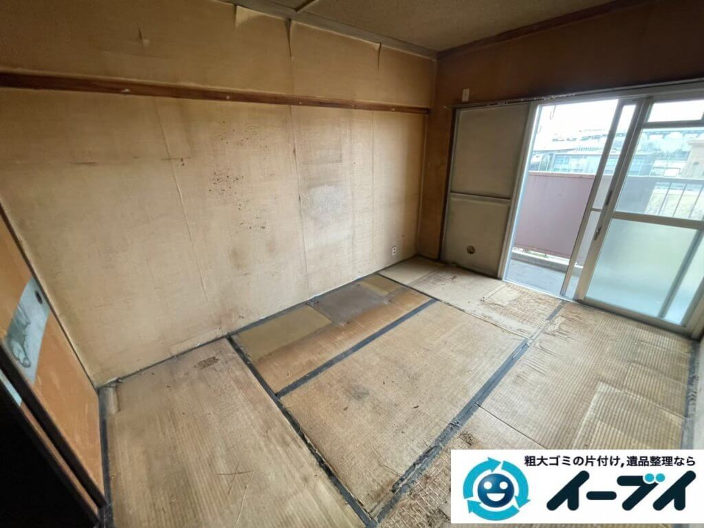 2021年6月18日大阪府大阪市城東区で箪笥や本棚の大型家具の不用品回収。写真3