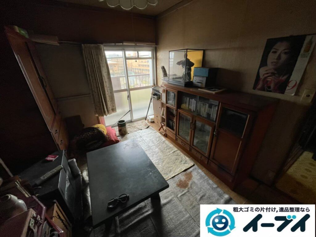 2021年6月18日大阪府大阪市城東区で箪笥や本棚の大型家具の不用品回収。写真2
