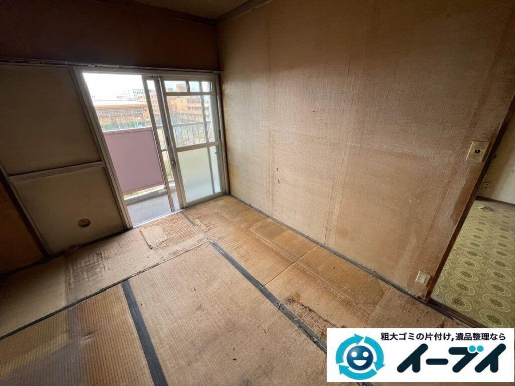 2021年6月18日大阪府大阪市城東区で箪笥や本棚の大型家具の不用品回収。写真1