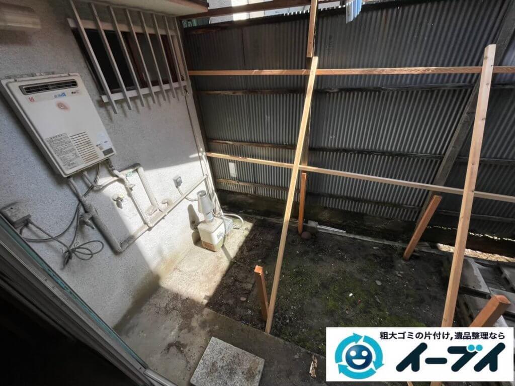 2021年6月3日大阪府堺市北区で引越し後に残った引越しゴミの不用品回収。写真7