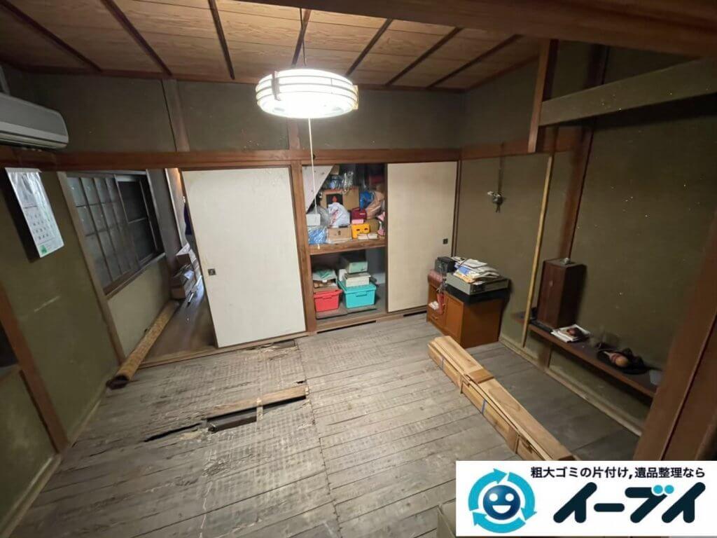 2021年6月3日大阪府堺市北区で引越し後に残った引越しゴミの不用品回収。写真3