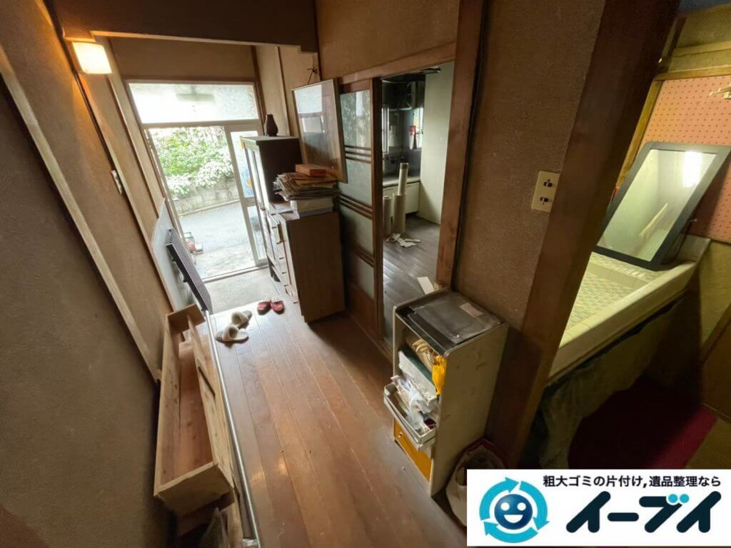 2021年6月3日大阪府堺市北区で引越し後に残った引越しゴミの不用品回収。写真2