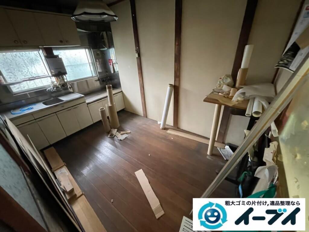 2021年6月6日大阪府大阪市中央区でお家の残置物の不用品回収。写真1