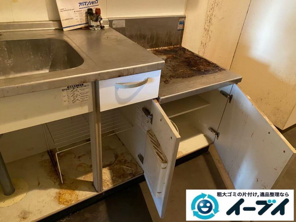 2021年6月15日大阪府大阪市北区で台所の片付けに伴い、冷蔵庫などの不用品回収。写真7
