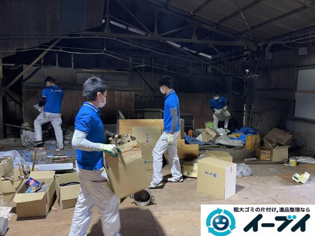 2021年6月28日大阪府大阪市平野区で倉庫の不用品回収写真1