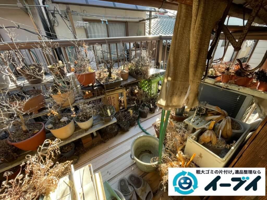 2021年7月13日大阪府大阪市東成区でベランダの植木鉢を中心に不用品回収させていただきました。写真2