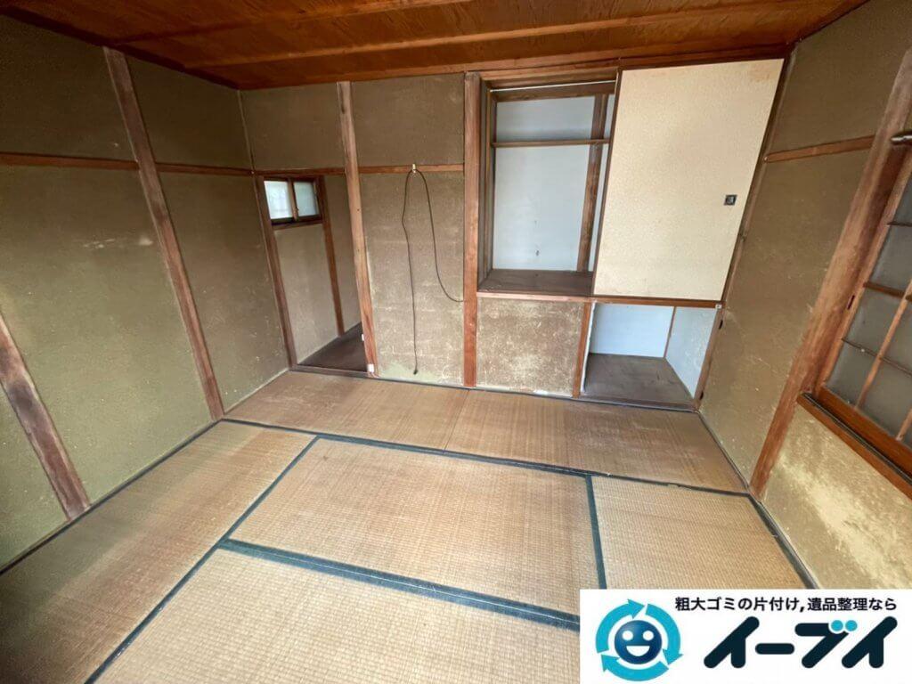 2021年8月10日大阪府大阪市港区で退去に伴い、お家の家財道具を一式処分させていただきました。写真1