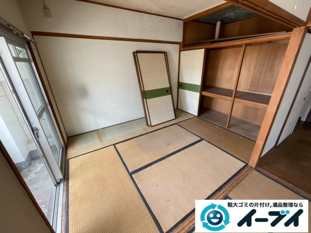 2021年8月13日大阪府大阪市福島区でタンスやベッドの大型家具の不用品回収。写真4