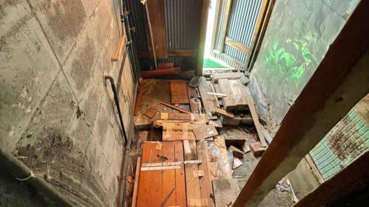 2021年10月17日大阪府守口市でお家の外構や廊下の不用品回収。写真8